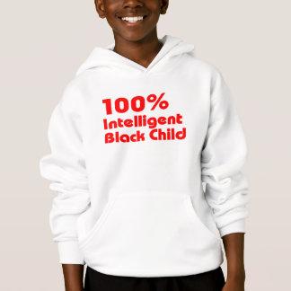 100% Intelligent Black Child Hoodie