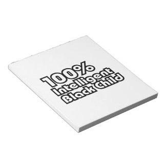 100% Intelligent Black Child Notepad