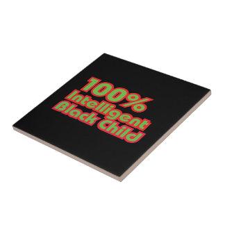 100% Intelligent Black Child Tile