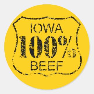 100% Iowa Beef Stickers