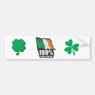 100%-IRISH CAR BUMPER STICKER