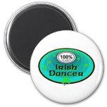 100% Irish Dance 2 Inch Round Magnet