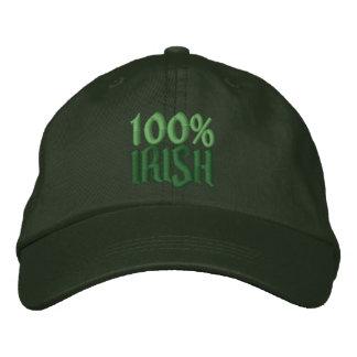 100% Irish Embroidered Baseball Cap