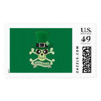 100% Irish.Green lucky irish skull Postage