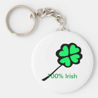 100% irish keychain