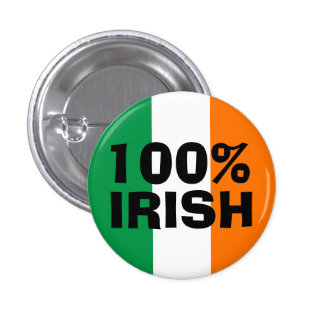 100% Irish Pinback Button