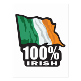 100%-IRISH POSTCARD