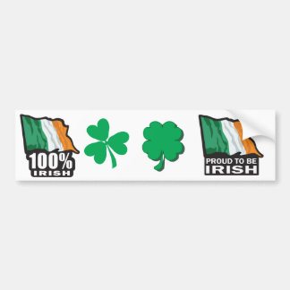 100% Irish Proud to Be Irish Bumper Sticker