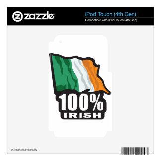 100% Irish Proud to Be Irish iPod Touch 4G Decals