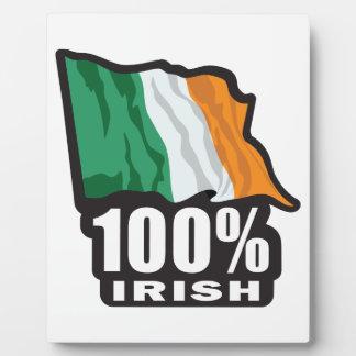 100% Irish Proud to Be Irish Plaque