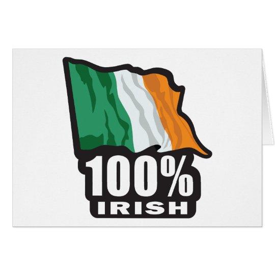 100% Irish/St. Patrick's Day Card