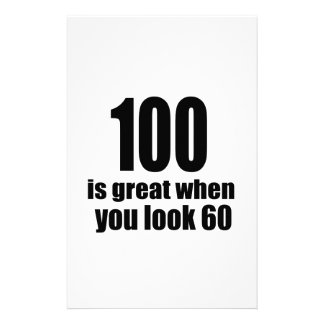 100 Is Great When You Look Birthday Stationery
