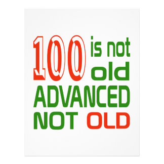 100 is not old advanced not old letterhead