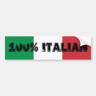 100% Italian Bumper Sticker Car Bumper Sticker