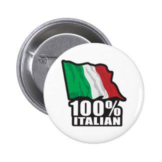 100% Italian 2 Inch Round Button