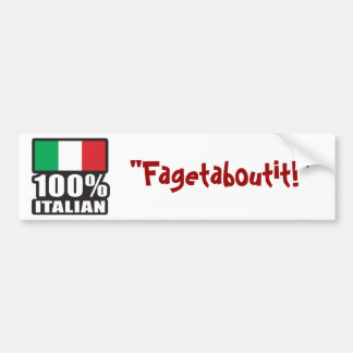 100% Italian Car Bumper Sticker