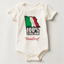 100% Italian Flag Baby Bodysuit