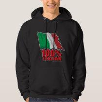 100% Italian Flag Hoodie