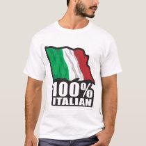 100% Italian Flag T-Shirt