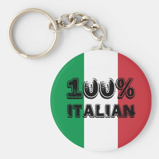 100% Italian Keychain