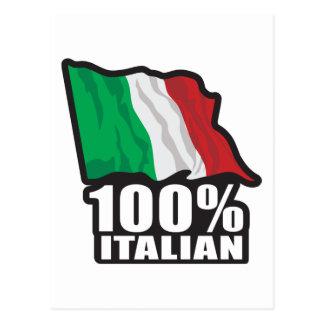 100% Italian Postcard