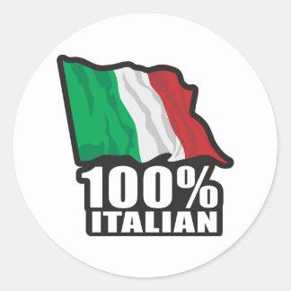 100% Italian Round Stickers