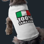 "100% Italian T-Shirt<br><div class=""desc"">Italian Flag Design</div>"