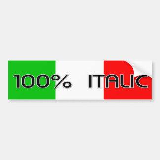 100 italic2 bumper sticker