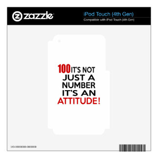 100 it's not just a number it's an attitude decal for iPod touch 4G