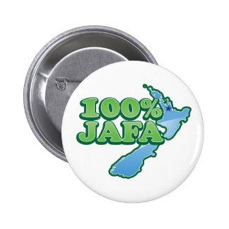 100% JAFA NEW ZEALAND kiwi design AUCKLAND Pinback Button