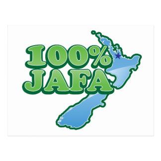 100% JAFA NEW ZEALAND kiwi design AUCKLAND Postcard