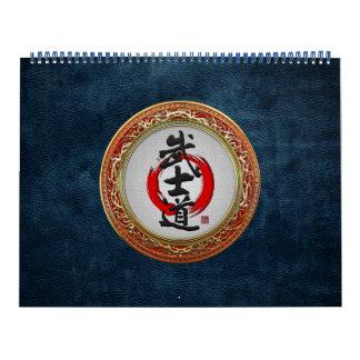 [100] Japanese Calligraphy - Bushido Calendar