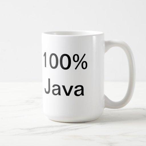 100% Java Coffee Mug