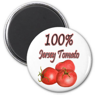 100% Jersey Tomato 2 Inch Round Magnet