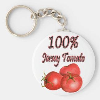 100% Jersey Tomato Keychain