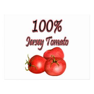 100% Jersey Tomato Postcard
