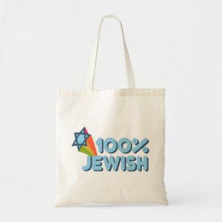 100% JEWISH + Magen David Bag