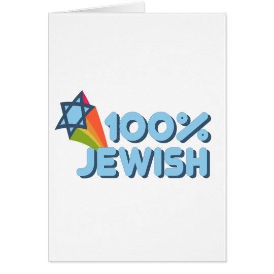 100% JEWISH + Magen David greeting card