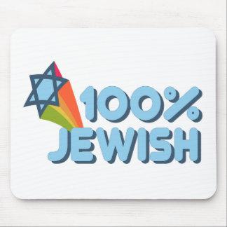 100% JEWISH + Magen David Mouse Pad