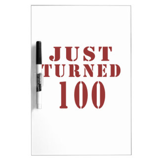 100 Just Turned Birthday Dry-Erase Board