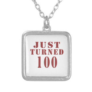 100 Just Turned Birthday Silver Plated Necklace