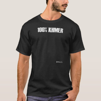 100% Khmer - black T-Shirt