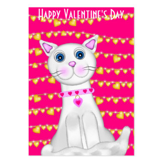 100 Kitty Valentine's Day Cards Business Cards
