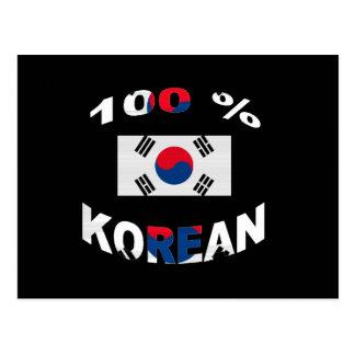 100% Korean Postcard