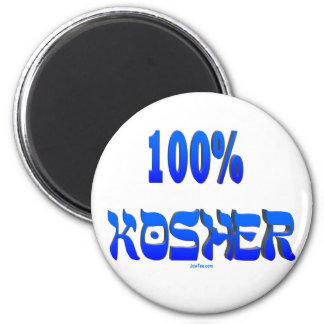 100% kosher Jewish gifts 2 Inch Round Magnet