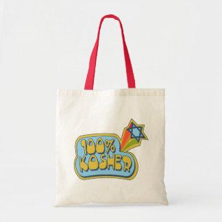100% Kosher - Jewish Hebrew humor Canvas Bag