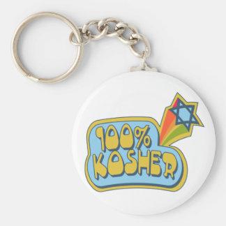 100% Kosher - Jewish Hebrew humor Keychain