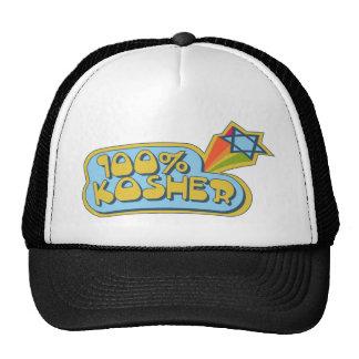 100% Kosher - Jewish Hebrew humor Trucker Hat