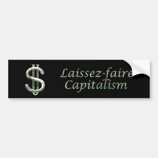 $100 Laissez-faire Capitalism Bumper Stickers