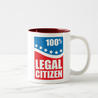 100% Legal Citizen Two-Tone Coffee Mug